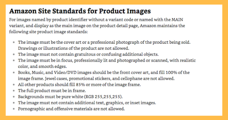 Amazon Product Photography Guidelines